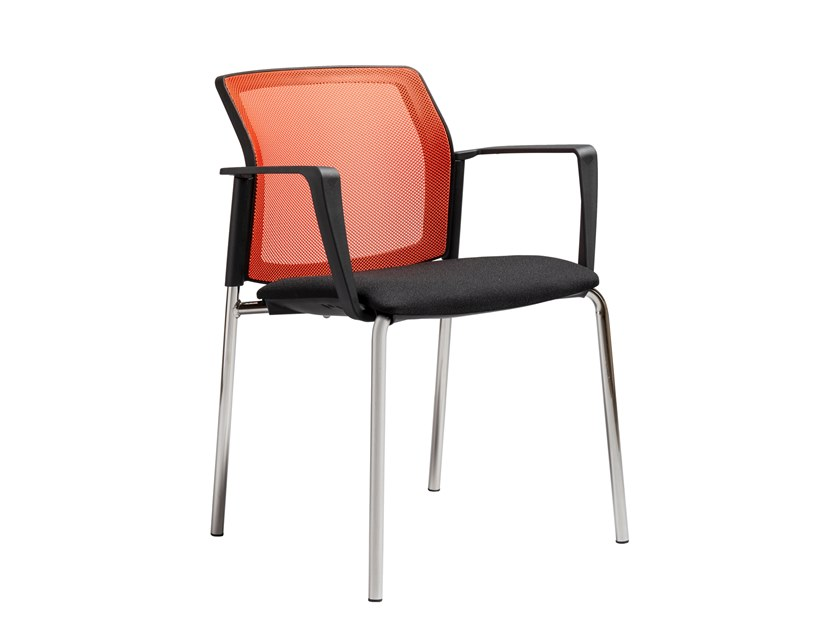 Fabric chair with armrests TENNESSEE by AP Factor