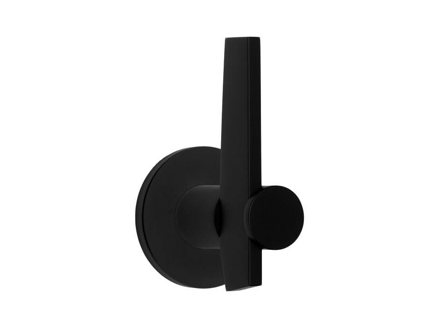 Maniglia in acciaio inox con finitura satinata su rosetta TENSE BB105-G | Maniglia by Formani