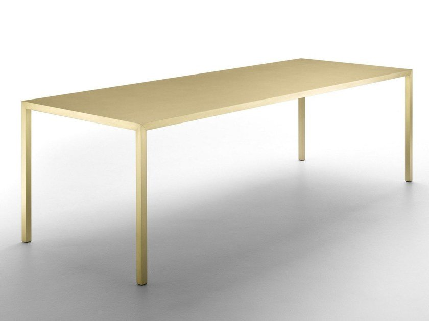 Rectangular brass table TENSE MATERIAL | Brass table by MDF Italia