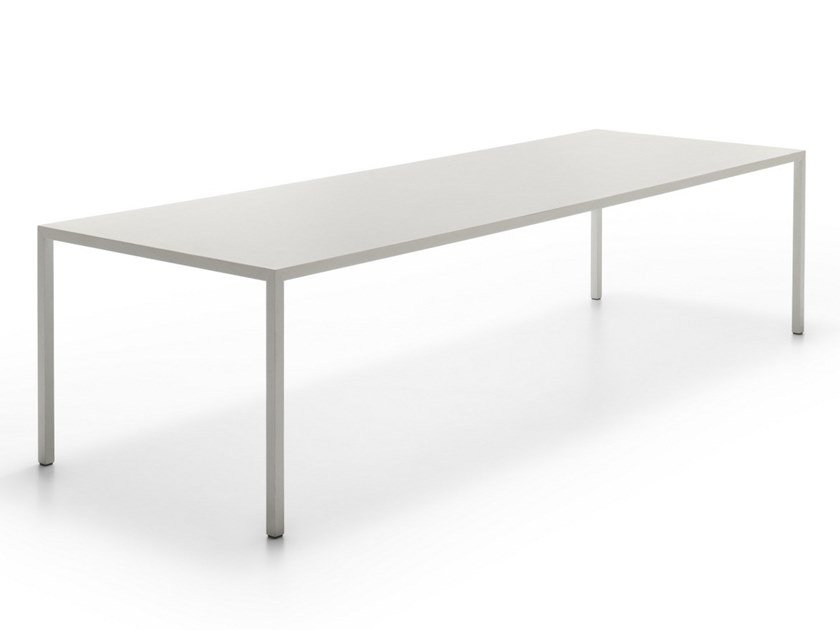 Rectangular Carrara marble table TENSE MATERIAL | Marble table by MDF Italia