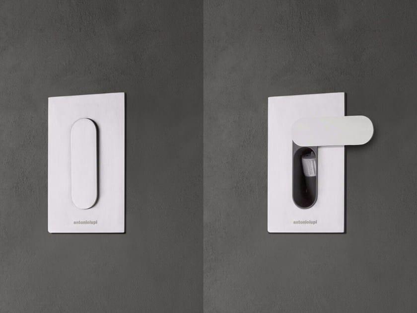 Stainless steel toilet-jet handspray TENSO by Antonio Lupi Design