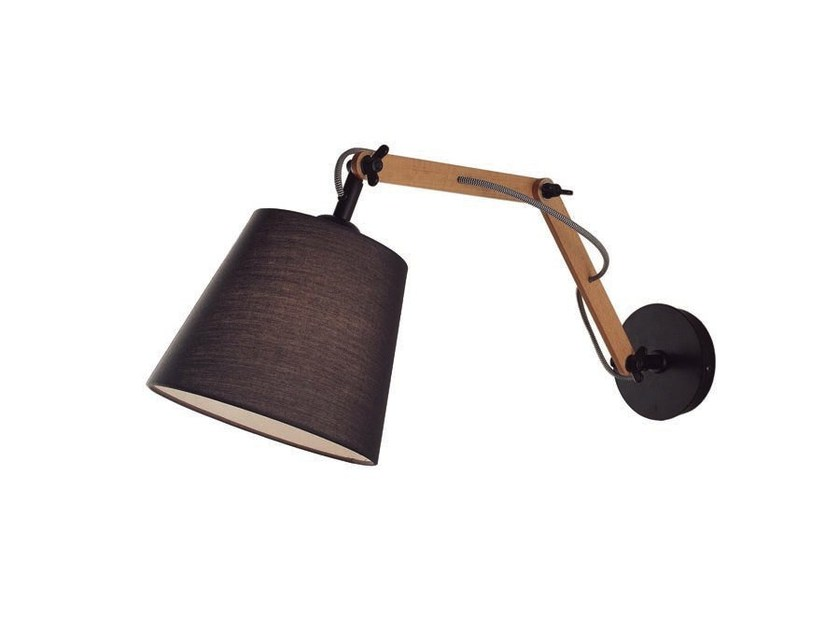 Adjustable wooden wall lamp TEO | Adjustable wall lamp by Aromas del Campo