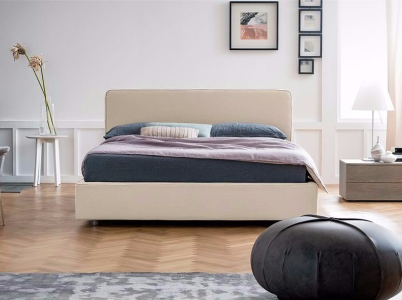 Upholstered fabric double bed TEO by Dall'Agnese