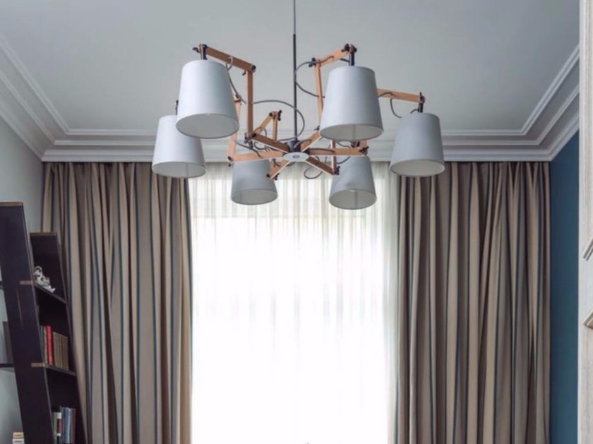 Direct light swivel wooden pendant lamp TEO | Pendant lamp by Aromas del Campo
