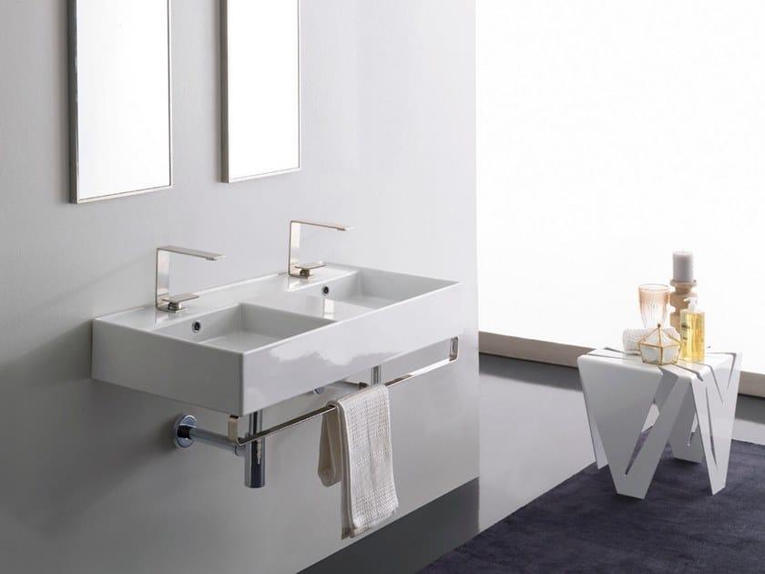 Teorema 2 0 Double Washbasin Teorema 2 0 Collection By Scarabeo Ceramiche Design Giovanni Calisti