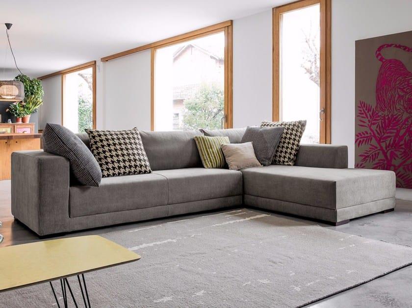 Corner sectional fabric sofa TEOREMA | Corner sofa by Dall'Agnese