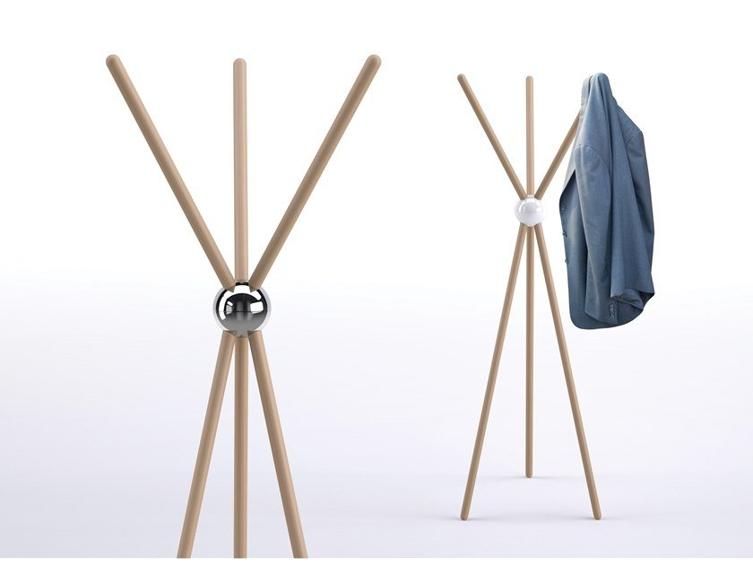 Solid wood coat stand TEPEE by REXITE
