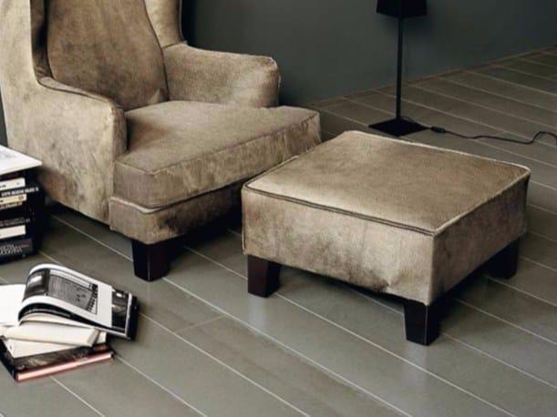 Leather footstool TERESINO by Casamilano
