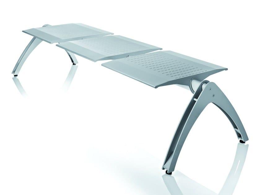 Seduta su barra in acciaio senza schienale TERMINAL | Seduta su barra senza schienale by ALMA DESIGN