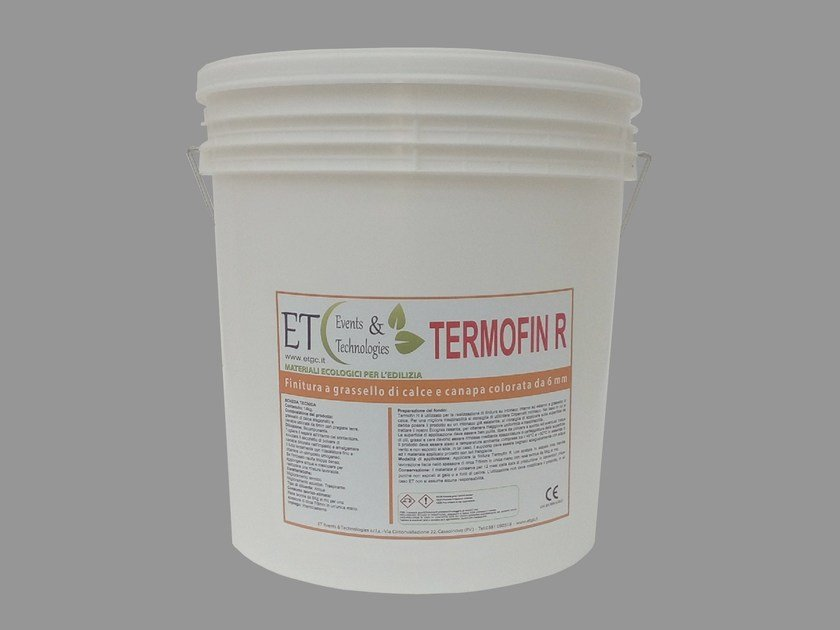 Exterior finish made with lime putty and hemp TERMOFIN R by ET Events & Technologies
