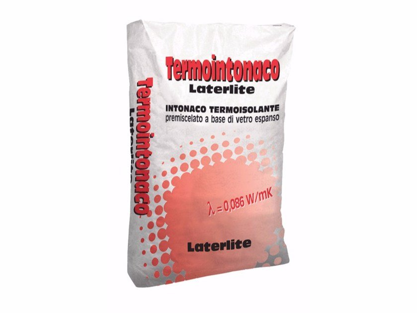 Thermal insulating plaster TERMOINTONACO LATERLITE by Laterlite