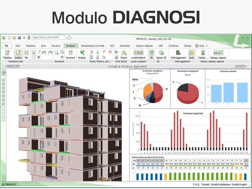 Energy certification TERMOLOG - Modulo DIAGNOSI by LOGICAL SOFT