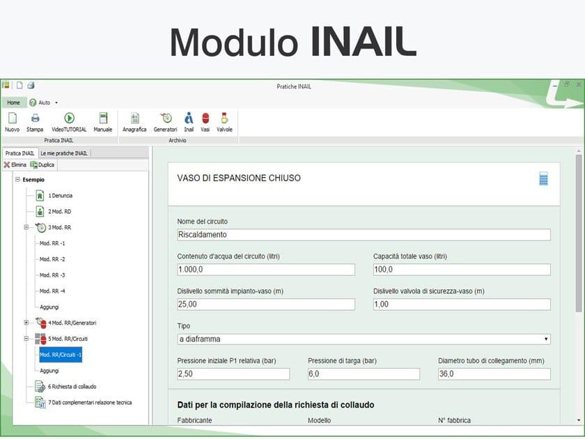 TERMOLOG - Modulo INAIL