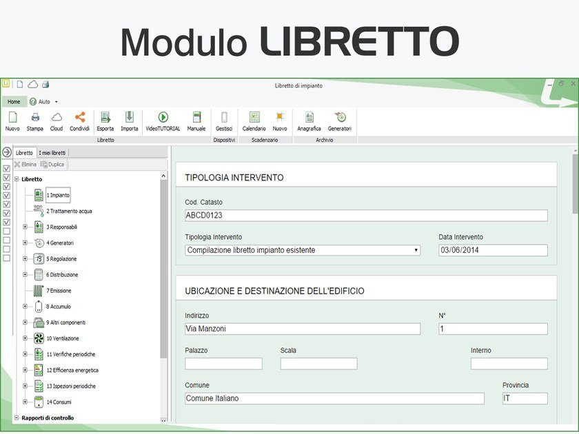 Plant maintenance and management TERMOLOG - Modulo LIBRETTO by LOGICAL SOFT