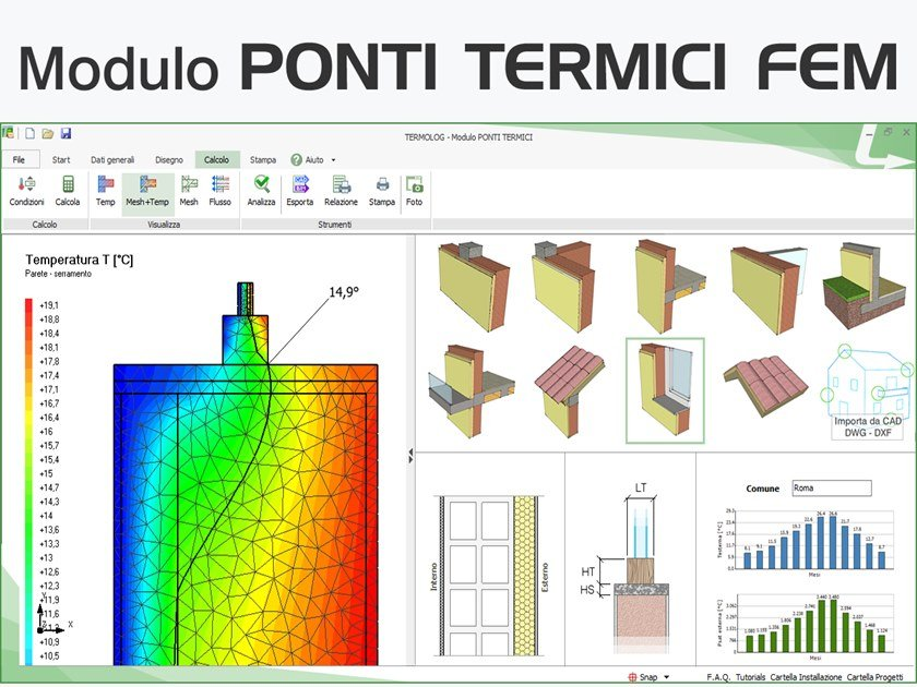 Energy certification TERMOLOG - Modulo PONTI TERMICI FEM by LOGICAL SOFT