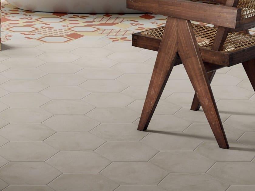 Pavimento/rivestimento in gres porcellanato per interni TERRA.ART BIANCO by Marca Corona