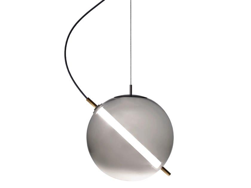 Lampada a sospensione a LED in vetro soffiato TERRAZZA MARTINI | Lampada a sospensione by Rossini Illuminazione