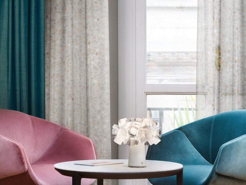 Trevira® CS fabric for curtains TERRAZZO by Inkiostro Bianco