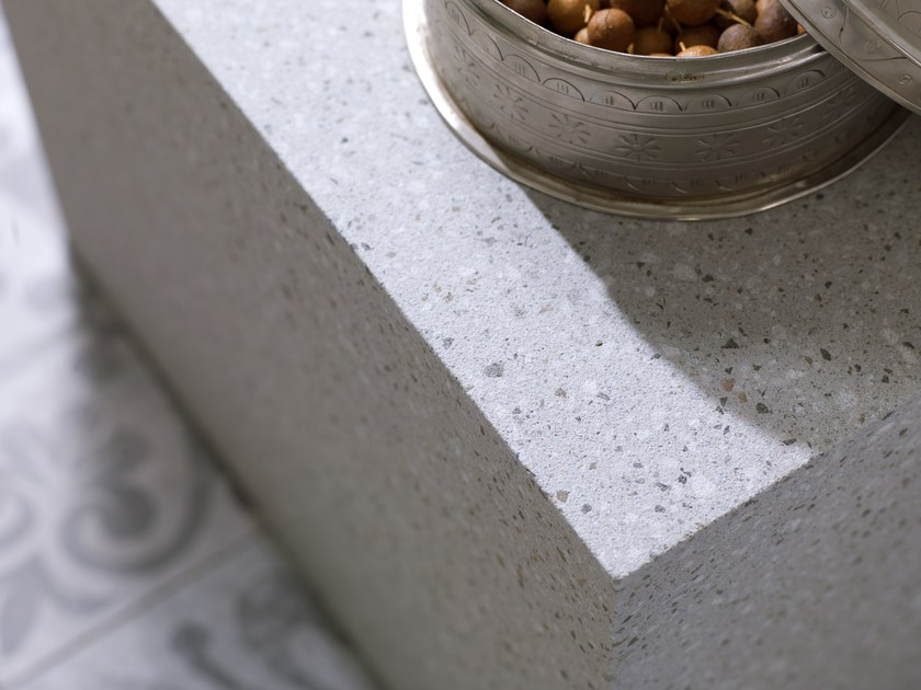 Antibacterial fireproof Krion® wall tiles TERRAZZO by Systempool