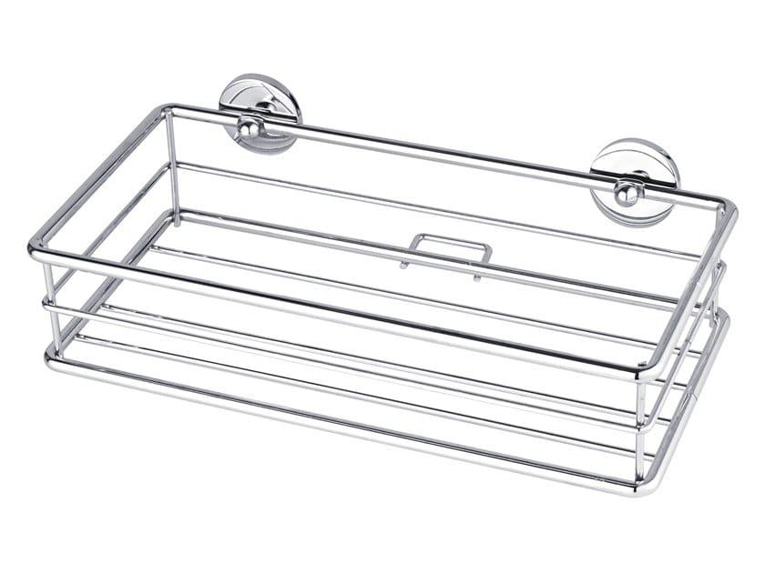 Wall-mounted adhesive metal soap dish for shower TESA® BAATH 40213 by tesa®