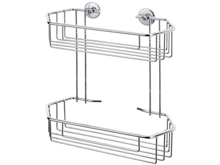 Wall-mounted adhesive metal soap dish for shower TESA® BAATH 40219 by tesa®