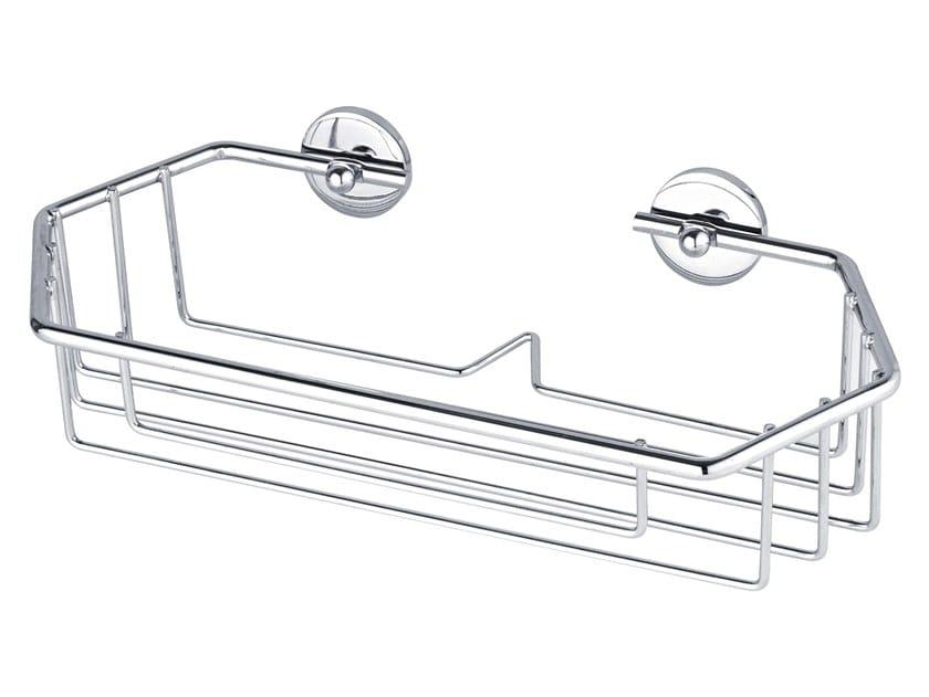 Wall-mounted adhesive metal soap dish for shower TESA® BAATH 40222 by tesa®