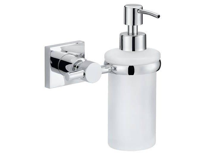 Adhesive wall-mounted satin glass liquid soap dispenser TESA® HUKK 40255 by tesa®