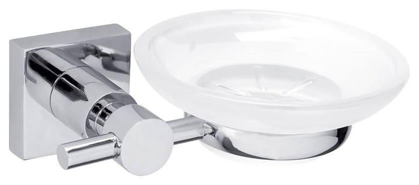 Wall-mounted adhesive glass soap dish TESA® HUKK 40256 by tesa®