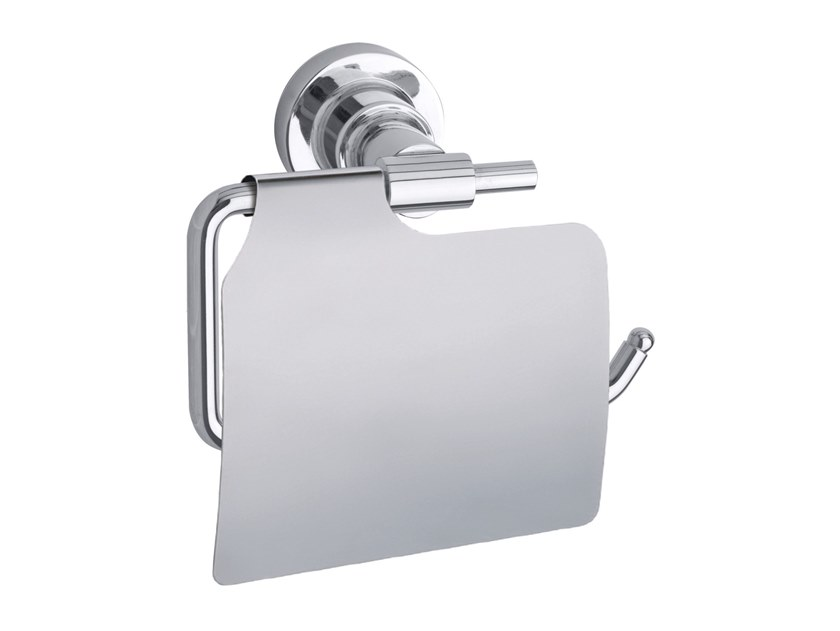 Adhesive stainless steel toilet roll holder with cover TESA® LUUP 40288 by tesa®