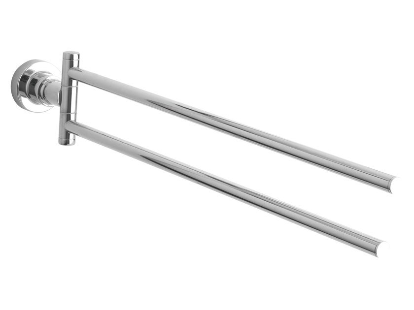 Swivel adhesive stainless steel towel rack TESA® LUUP 40290 by tesa®
