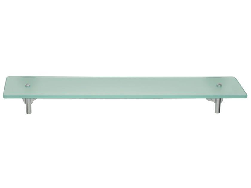 Adhesive satin glass bathroom wall shelf TESA® LUUP 40298 by tesa®
