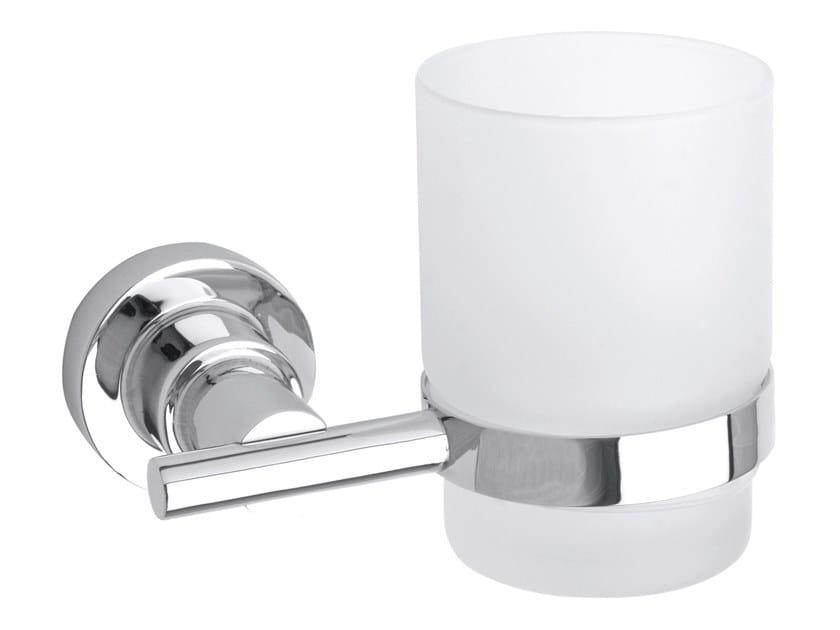 Wall-mounted adhesive satin glass toothbrush holder TESA® LUUP 40299 by tesa®