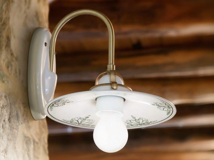 Ceramic wall lamp with fixed arm TESA | Wall lamp by Aldo Bernardi