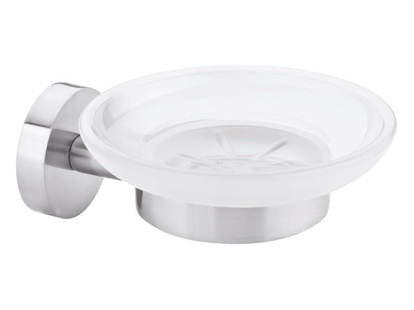 Wall-mounted adhesive satin glass soap dish TESA® MOON 40310 by tesa®