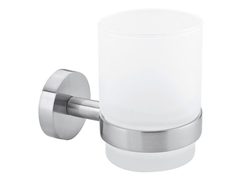 Wall-mounted adhesive satin glass toothbrush holder TESA® MOON 40312 by tesa®