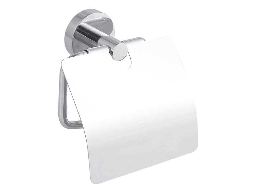 Adhesive stainless steel toilet roll holder with cover TESA® SMOOZ 40315 by tesa®