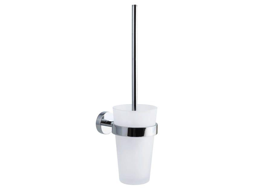 Adhesive wall-mounted satin glass toilet brush TESA® SMOOZ 40316 by tesa®