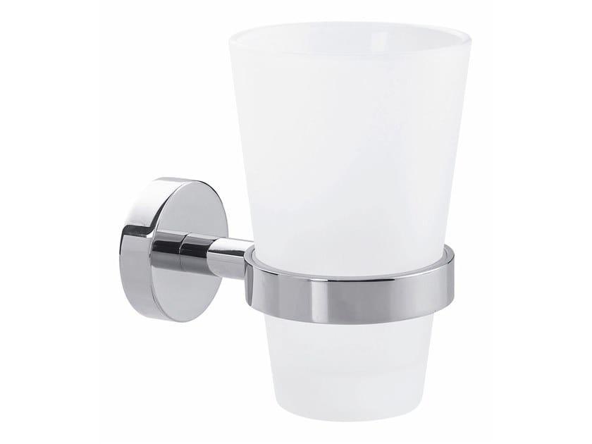 Wall-mounted adhesive stainless steel toothbrush holder TESA® SMOOZ 40327 by tesa®