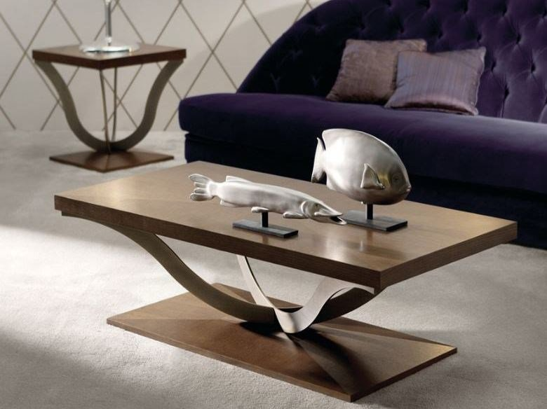 Rectangular wooden coffee table TESEO by OPERA CONTEMPORARY