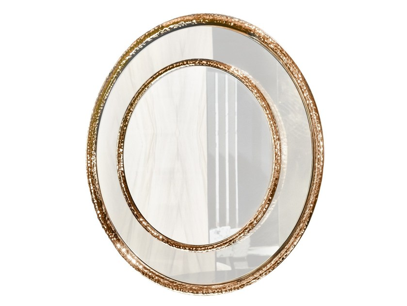Round wall-mounted framed mirror TESEO by Smania