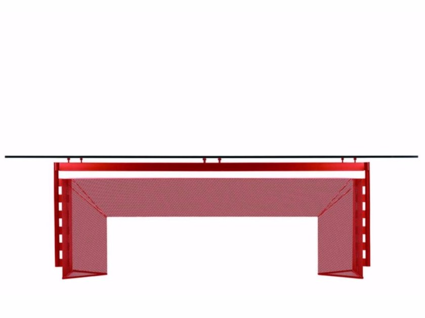 Rectangular expanded metal table TESI COLORS - 609_C by Alias