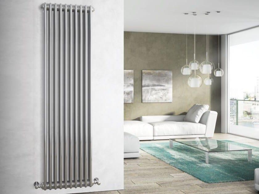 Chrome wall-mounted steel decorative radiator TESI CHROME-PLATED ...