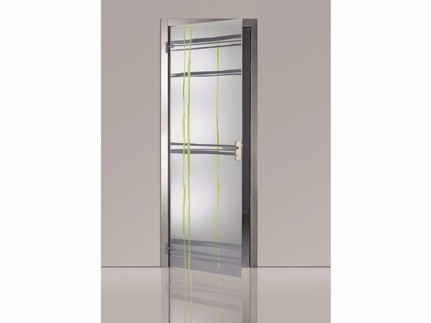 Hinged decorated glass door TESS by Casali