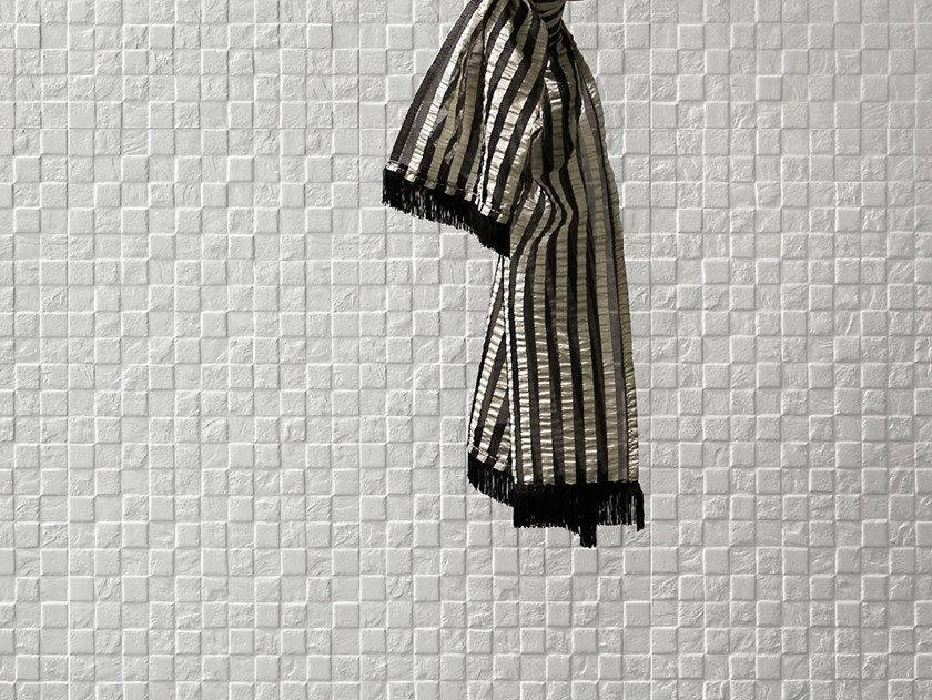 White-paste 3D Wall Cladding FORME BIANCHE TESSERE by Impronta Ceramiche