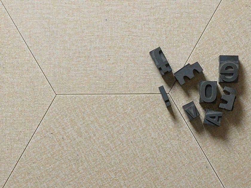 Natural stone wall/floor tiles TESSUTO ESAGONO GREIGE by TWS