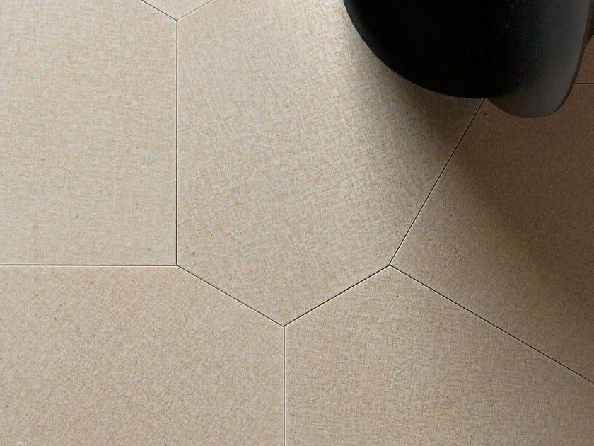 Natural stone wall/floor tiles TESSUTO POLIGONO6 GREIGE by TWS