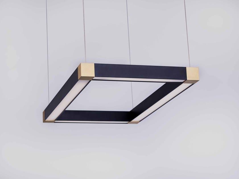 LED direct light metal pendant lamp TETRA LED LIGHT by Karice