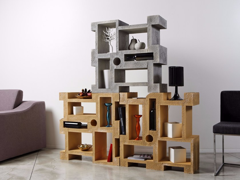 Open Poly Mass® bookcase TETRIS by Be Different