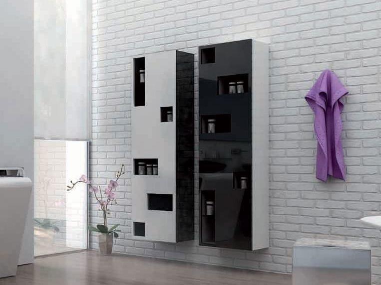 Tall suspended bathroom cabinet TETRIX by Componendo
