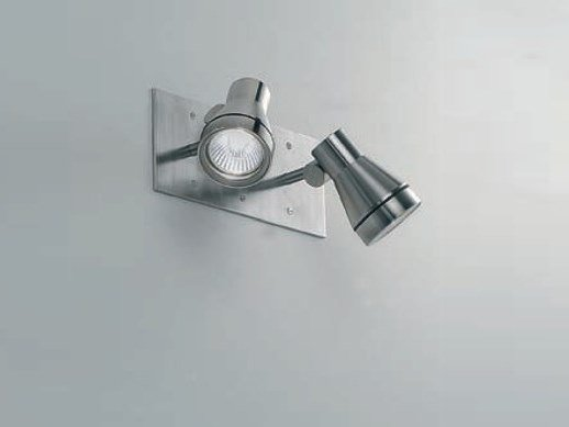 Adjustable stainless steel Outdoor floodlight TEX 2-IN by BEL-LIGHTING